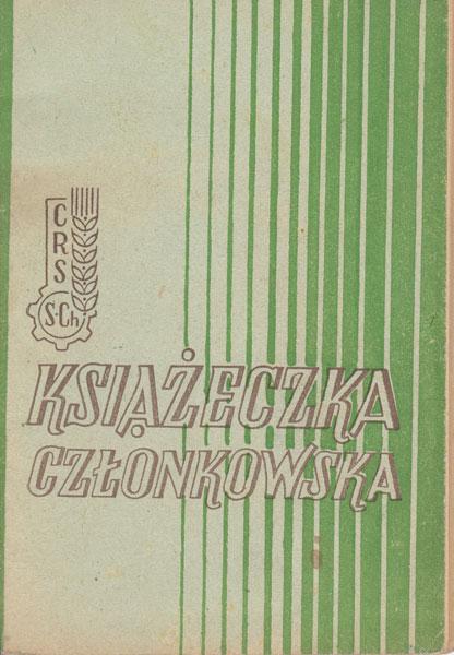 Książeczka członkowska 1946 r.