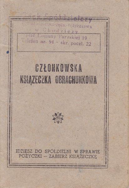 Książeczka członkowska 1959 r.